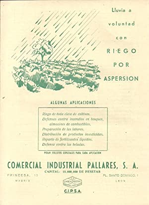Lluvia a voluntad con RIEGO POR ASPERSIÓN.: CORPORATIVO