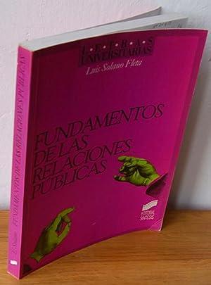 FUNDAMENTOS DE LAS RELACIONES PÚBLICAS: LUIS SOLANO FLETA