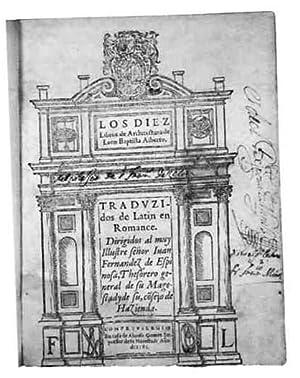 Los diez libros de arquitectura.: Alberti, Leon Battista (1404 - 1472).