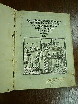 Questiones dubitabiles super quattuor libris sententiarum cum: Llull, Ramon.