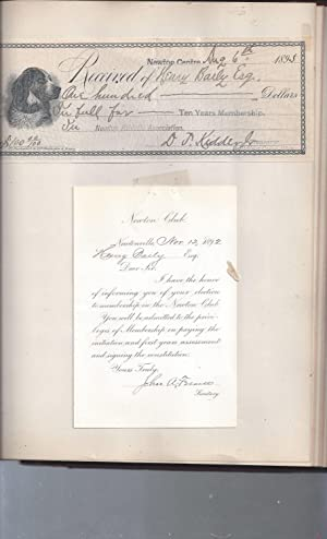 SCRAPBOOK OF ALDERMAN HENRY BAILY, NEWTON CENTER MASS, LATE 19TH CENTURY: HENRY BAILY