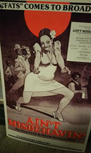 AIN'T MISBEHAVIN' THEATER POSTER (The New Fats Waller Musical Show)