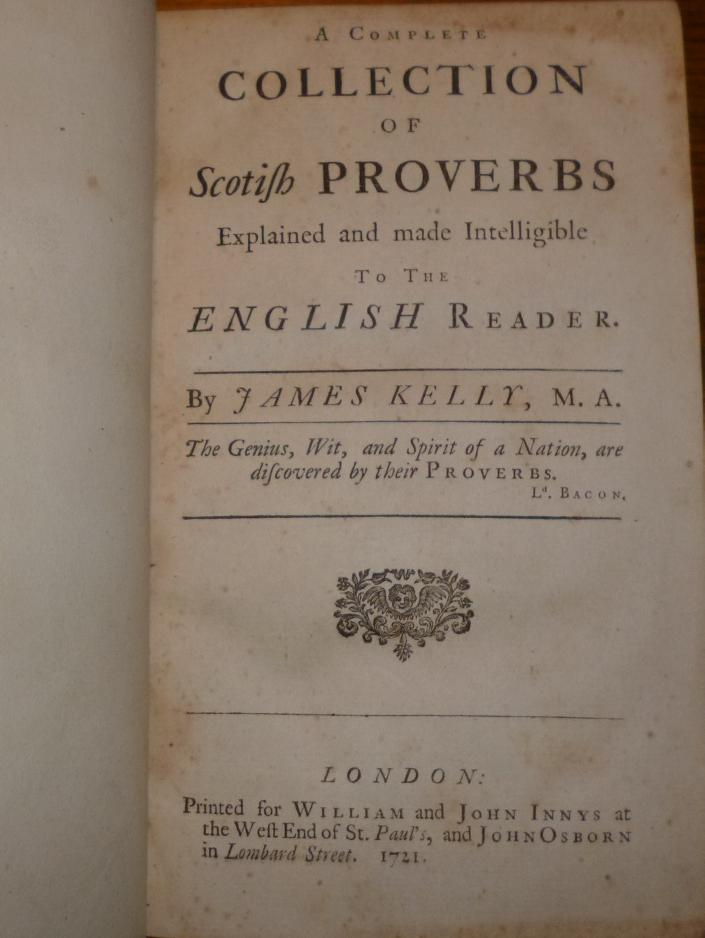 A Complete Collection of Scotish Proverbs