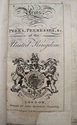 Stochdales Peerage of England, Scotland and Ireland. Volume One Only. Full Leather Binding.