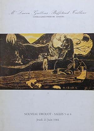 Tableaux Modernes, Arts Primitifs, Antiques, Haute Epoque: Mes Laurin-Guilloux-Buffetaud-Cailleur, 21/06/1984