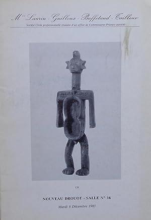 Antiques, Antiquités Préhispaniques: Mes Laurin-Guilloux-Buffetaud-Cailleur, 06/12/1983