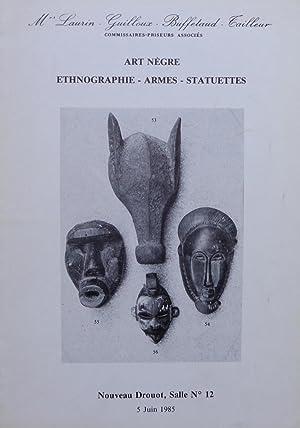 Art Nègre, Ethnographie-Armes-Statuettes: Mes Laurin-Guilloux-Buffetaud-Cailleur, 05/06/1985