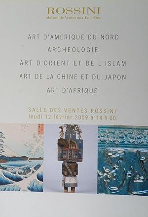 Art d'Amerique du Nord, Archeologie, Art d'Orient: Rossini maison de