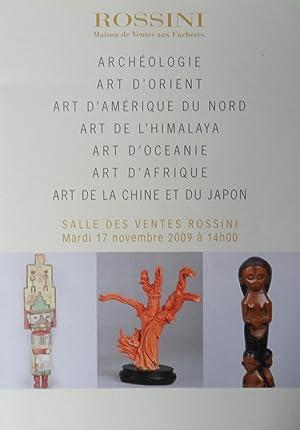 Archéologie, Art d'Orient, Art d'Amérique du nord,: Rossini maison de