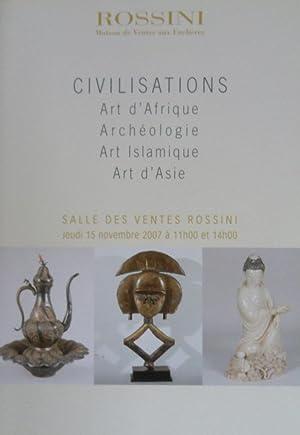 Civilisations: Art d'Afrique, Archéologie, Art Islamique, Art: Rossini maison de