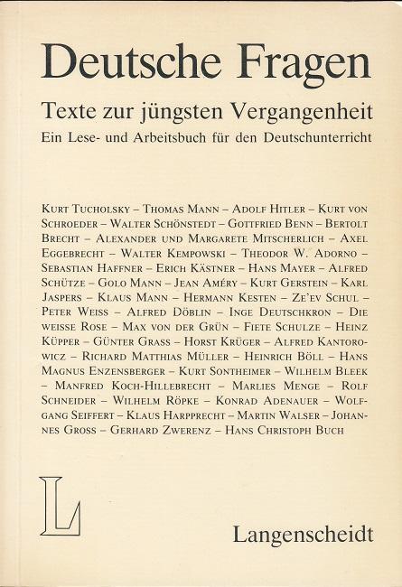 deutsche fragen texte zur j252ngsten vergangenheit von