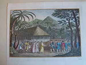 A REPRESENTATION OF THE SURRENDER OF THE ISLAND OF OTAHEITE TO CAPTN WALLIS, BY THE SUPPOSED QUEEN ...