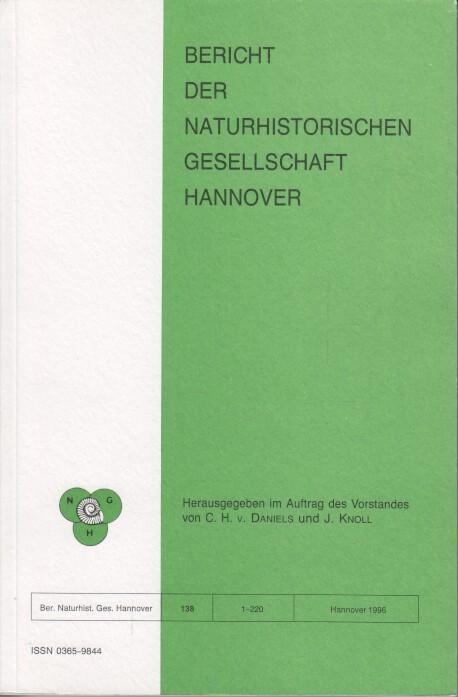 Bericht der Naturhistorischen Gesellschaft Hannover Bericht 138.: Daniels, C. H.