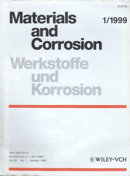 Werkstoffe und Korrosion. 50. Jahrgang. (12 Hefte): Schütze, Michael (Ed.),