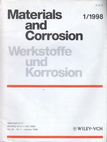 Werkstoffe und Korrosion. 49. Jahrgang. (12 Hefte): Schütze, Michael (Ed.),