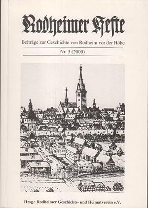 Rodheimer Hefte Nr. 3 : Beiträge zur: N.N.: