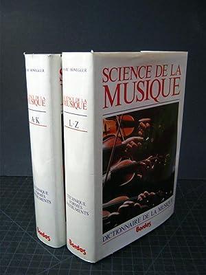 Sciences de la Musique: Dictionnaire de la: Marc Honegger
