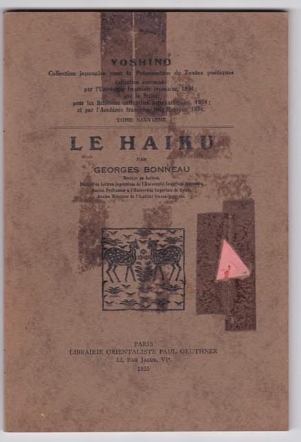 Le Haiku By Georges Bonneau Librairie Orientaliste Geuthner