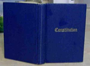 The Book of Constitution of The Grand Lodge of Ancient, Free and Accepted Masons of Canada in the ...