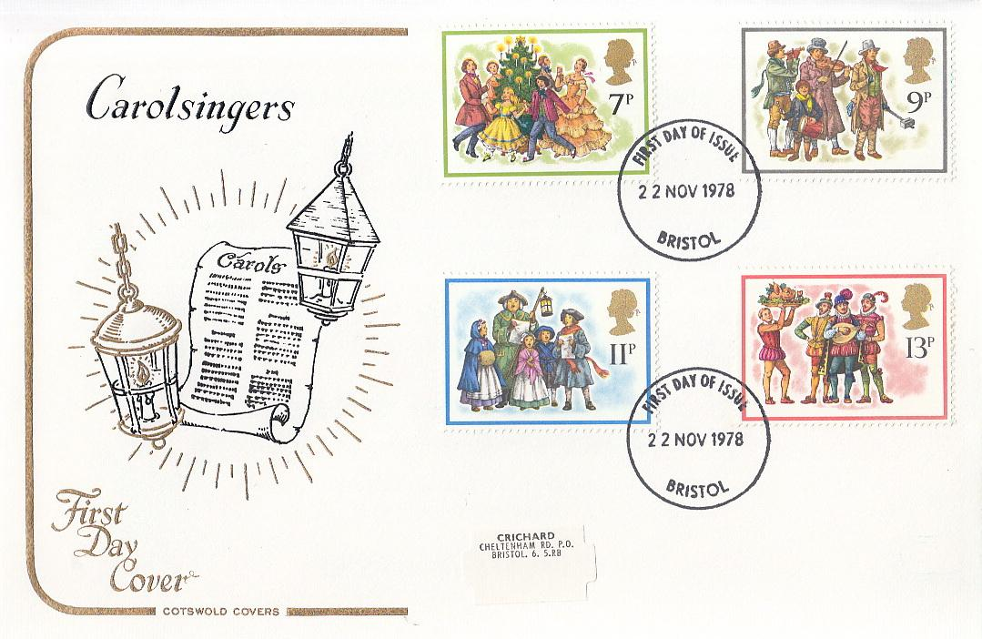 Great Britain Christmas Stamps. First Day Covers Stamp Collection. 38 covers, 1966- ...