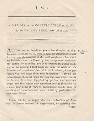 A Memoir on the Construction of Ships. A rare original article from the Transactions of the Royal ...