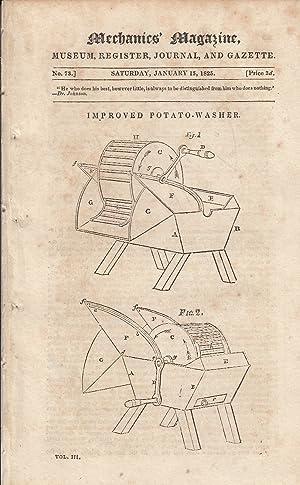 Improved Potato-Washer; Gas Exposion; Memoir of Simpson,