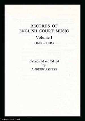 Records of English Court Music Volume 1,: Ashbee, Andrew; Thompson,