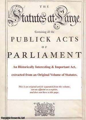 Malt Duties, etc. Act 1714 c. 2].: George I