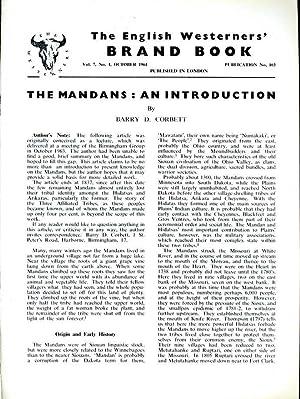 The Mandans: An Introduction. Brand Book Vol: Barry D. Corbett.