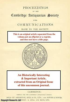 The Study of Anglo-Saxon Architecture since 1770.: Hunter, M.C.W.
