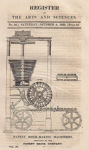 Patent brick making machinery, The American steam