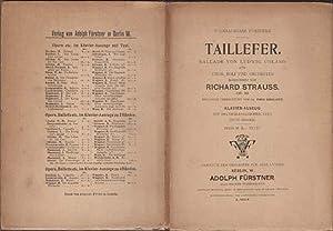 Taillefer: Ballade Von Ludwig Uhland: Strauss, Richard