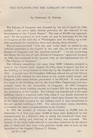 The Building for the Library of Congress. An original article from the Report of the Smithsonian ...