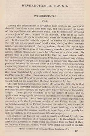 Fog: Researches in Sound. An original article from the Report of the Smithsonian Institution, 1878....
