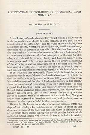 A Fifty-Year Sketch History of Medical Entomology.: Howard, L. O.