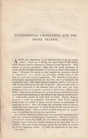 Alcohol, Intemperance, and Legislation. A collection of: W. Stanley Jevons;