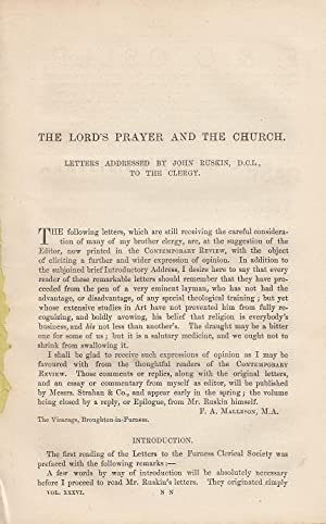 The Lord's Prayer and The Church. Letters: Ruskin, John