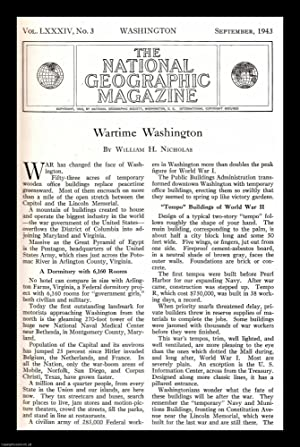 Wartime Washington. An original article from the National Geographic Magazine, 1943.: Nicholas, ...