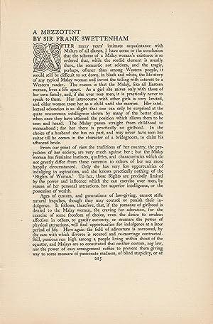 MALAY WOMEN]. A Mezzotint.: Swettenham, Sir Frank