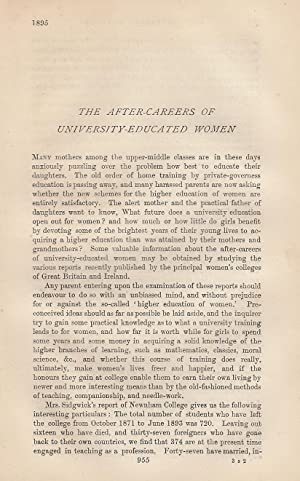 The After Careers of University Educated Women A rare original article from the Nineteenth Century ...