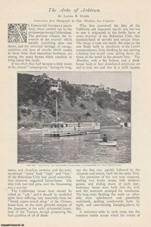 The Arks of Arktown. Houseboats in California. A rare original article from The Strand Magazine, ...