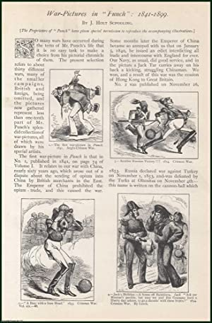 War Pictures in Punch. 1841-1899. A rare original article from The Strand Magazine, 1900.: ...