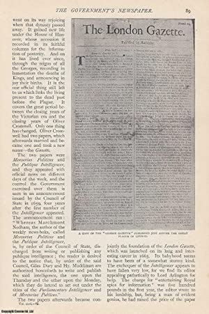 The Government's Newspaper. The London Gazette. A rare original article from The Strand ...