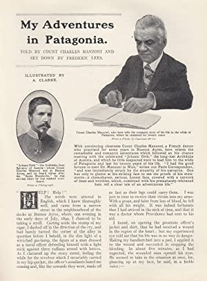 My Adventures in Patagonia. Meeting between Count Charles Manzoni and Johann Orth, the long-lost ...