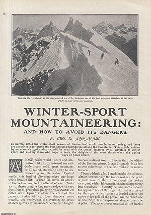 Winter-Sport Mountaineering. Monte Disgrazia, Bernina.: Abraham, Geo. D.