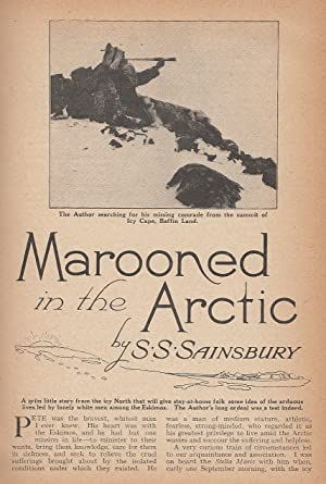 Marooned In The Arctic. Icy Cape, Baffin: Sainsbury, S. S.