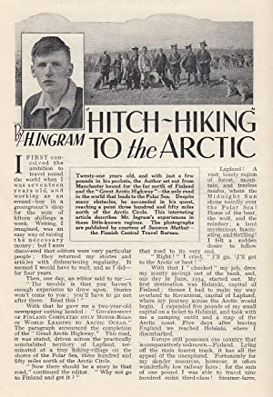 Hitch-Hiking To The Arctic. An original article from the Wide World Magazine, 1935.: Ingram, H.