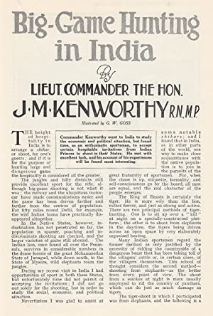 Big-Game Hunting in India. An original article from the Wide World Magazine, 1930.: Kenworthy, J. M.