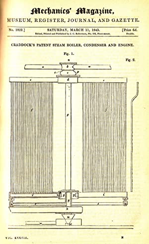 Craddock's Patent Steam Boiler, Condenser And Engine; Wooden Pavements; Screw Propellers; ...