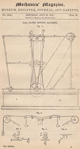 Sail Cloth Sewing Machine; Apparatus For Effecting